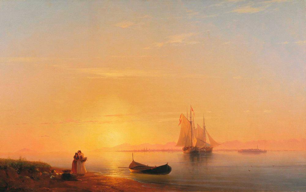 И.К. Айвазовский. Берега Долмации (1848)