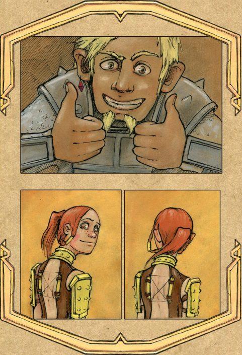 Страницы из комикса Тропа дварфов