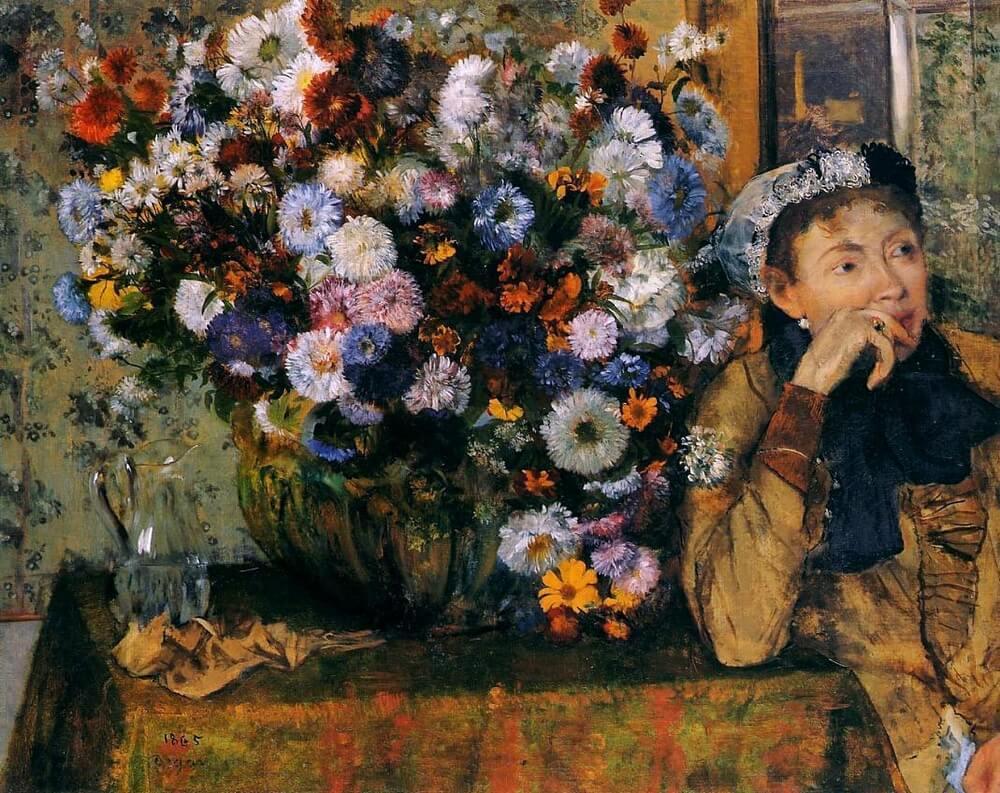 Дега. Женщина у вазы с цветами