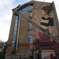 Подготовка к фестивалю стрит-арта в Нижнем Новгороде