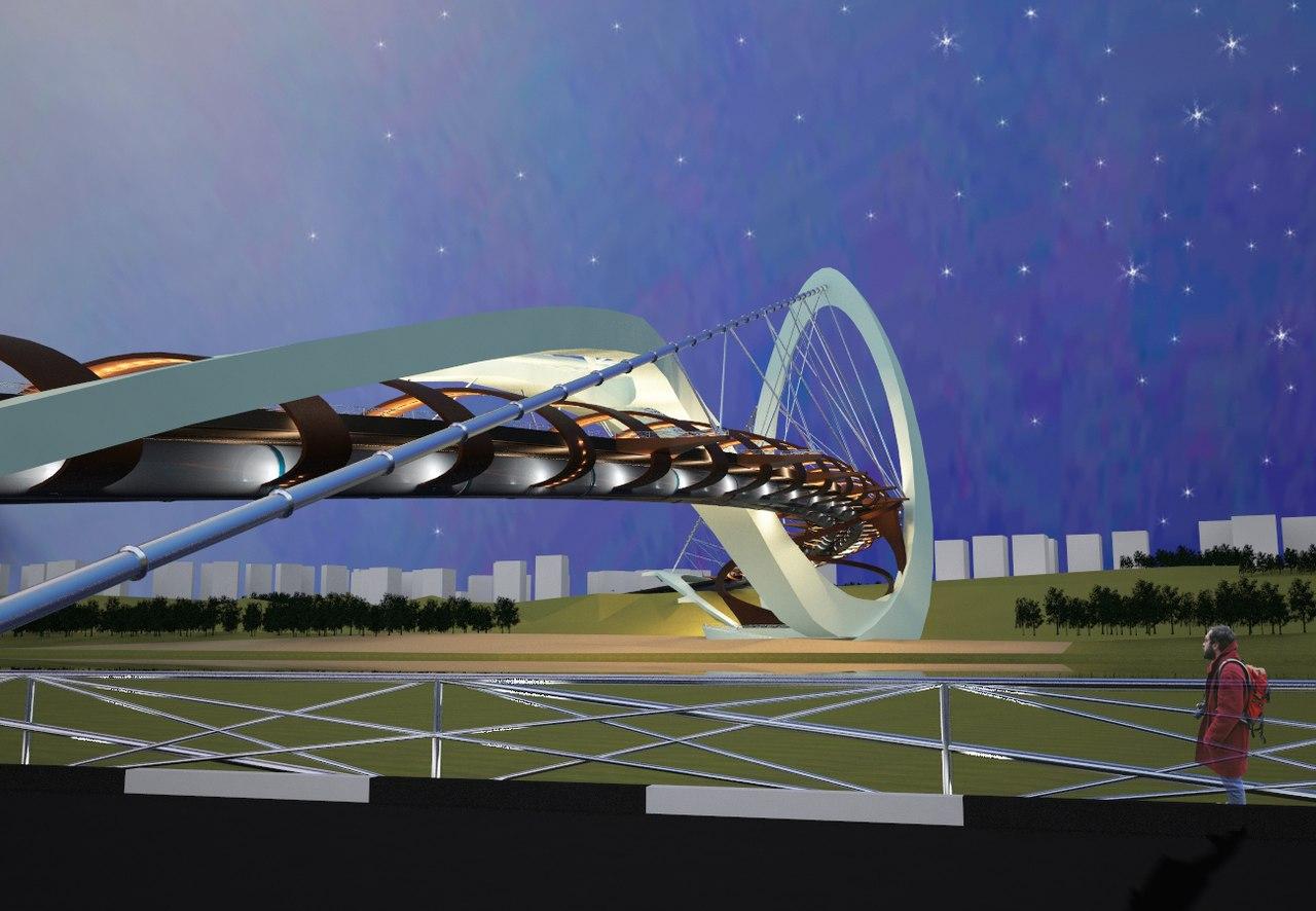 Дизайн-концепция метромоста в Нижнем Новгороде от Анастасии Савёловой