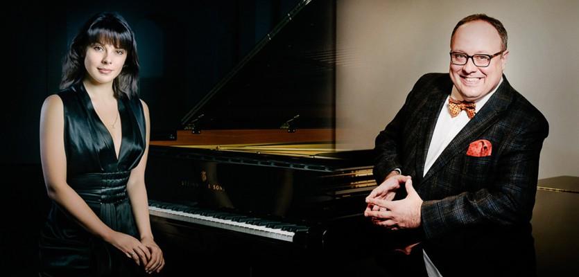 Дуэт пианистов Екатерины Мечетиной и Александра Гиндина в Нижегородской филармонии