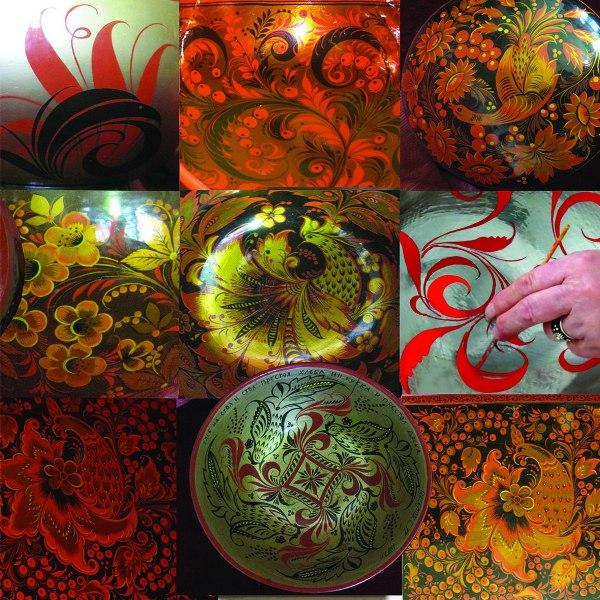 Выставка мастеров хохломской росписи Лушиных в Выставочном комплексе