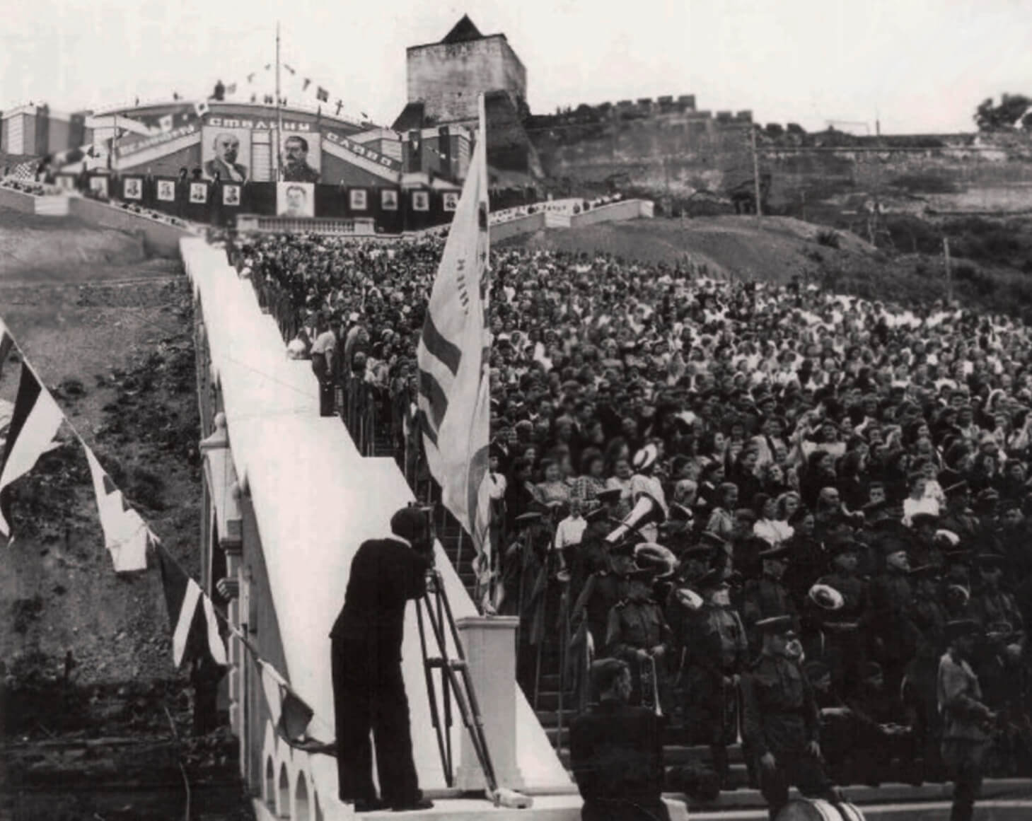 Открытие Чкаловской лестницы, 1949 год