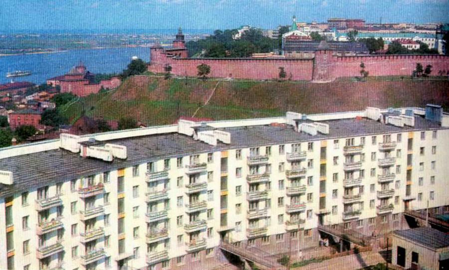 Архивная фотография радиусного дом на Федоровского
