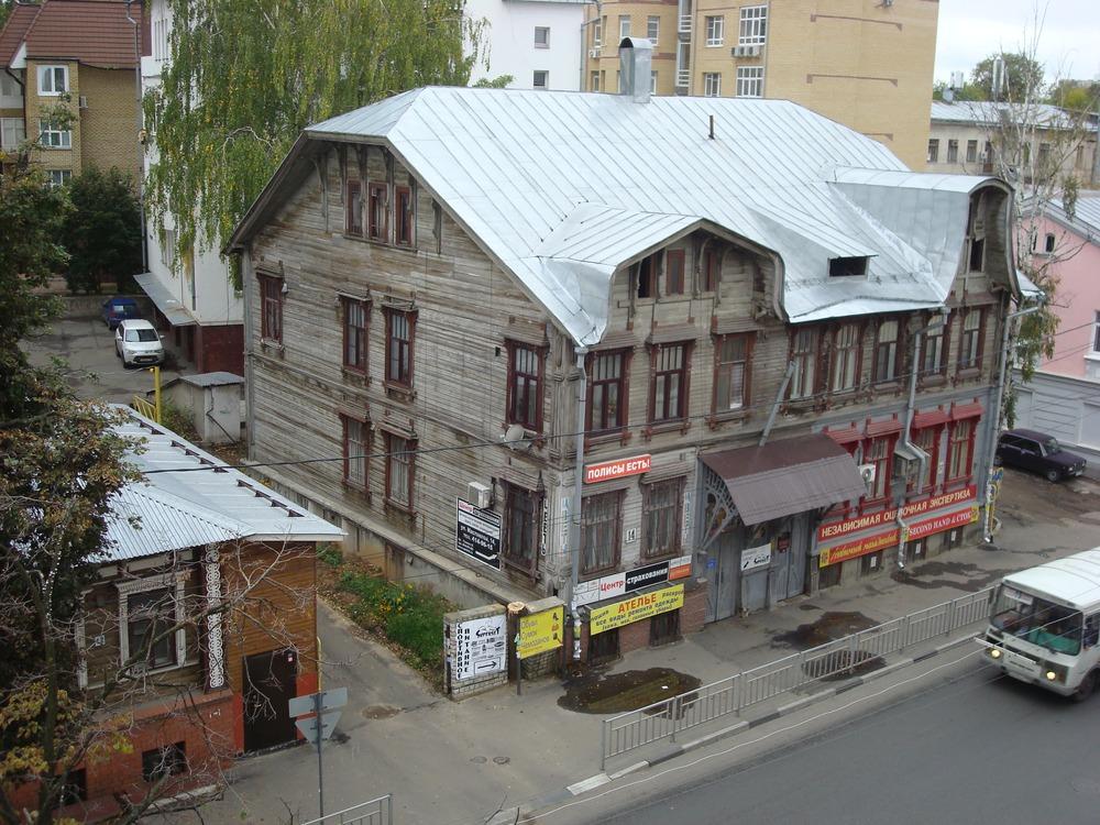 Дом Березина на ул. Маслякова, бывшей Прядильной. Самый яркий пример деревянного модерна