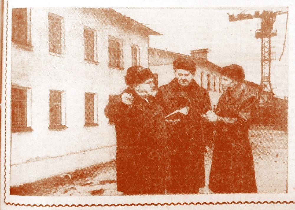 Фото из газеты 1957 года, из архива Иры Масловой