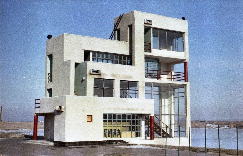 Судейская вышка на Гребном канале, 1988 год, самая стильная модернистская постройка в Горьком