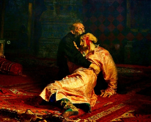 Картина Ильи Репина «Иван Грозный и сын его Иван 16 ноября 1581 года» снова подверглась нападению
