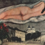 Марк Захарович Шагал. Chagall nude over vitebsk
