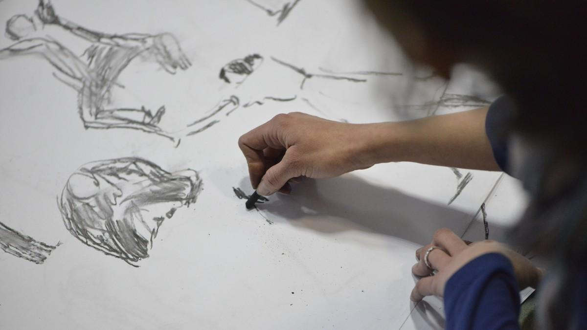 Выставка графики «За движением…» в «Рекорде»