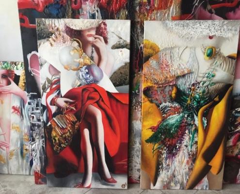 Выставка произведений Ольги Гречиной «Гиперреализм. Романтический постмодернизм» в Нижегородском государственном выставочном комплексе