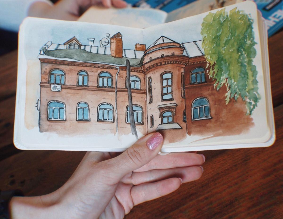 Urban Sketchers Nizhny Novgorod действительно вдохновляет