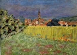 Пьер Боннар «Пшеничное поле перед церковью», 1907