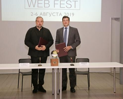 27 июня Глеб Никитин и организатор международного фестиваля веб-сериалов «REALIST WEB FEST» Антон Калинкин подписали соглашение о сотрудничестве на 5 лет