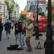 Уличные музыканты в Нижнем Новгороде