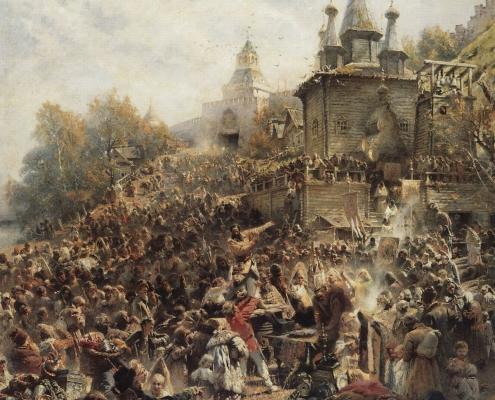 Константин Маковский «Воззвание Минина к нижегородцам», 1896