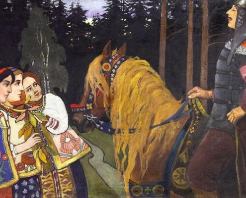Билибин. Витязь (Алеша Попович). 1902.