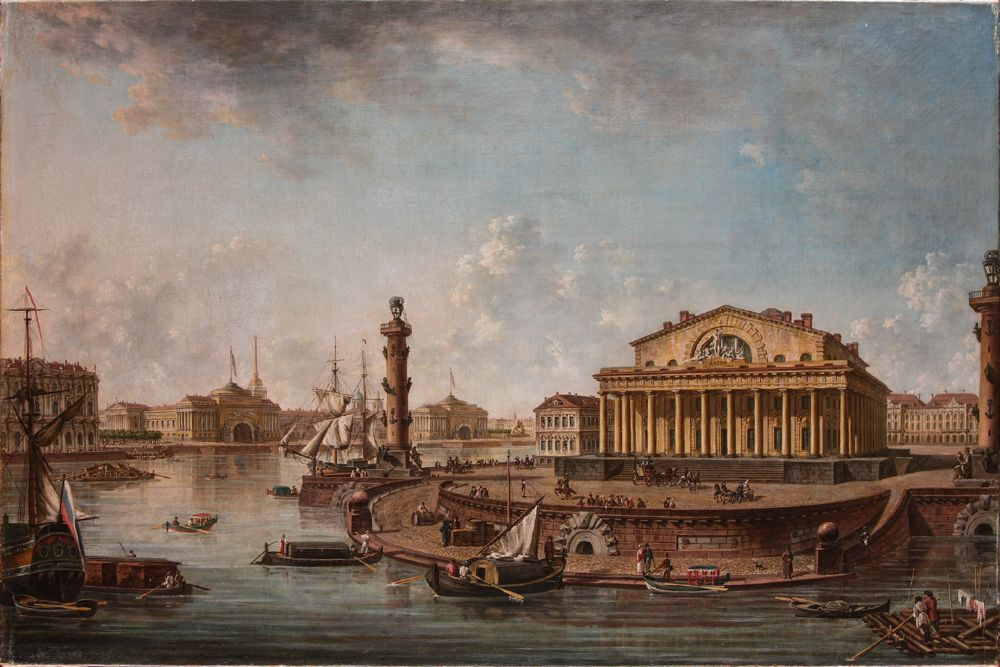 Алексеев Федор Яковлевич. Вид Биржи в Петербурге. 1817