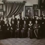 Андрей Осипович Карелин с учениками рисовальной школы