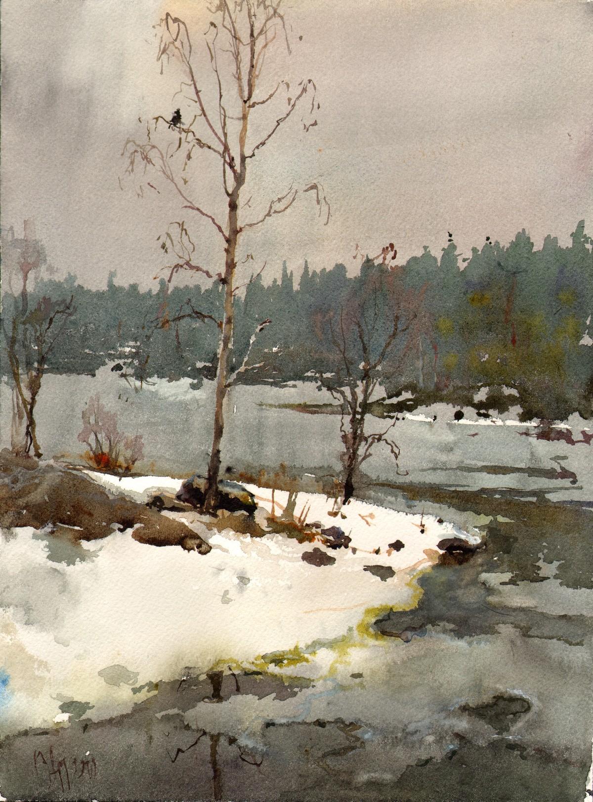 Сергей Алдушкин «Весна на Валааме», 2019 г.