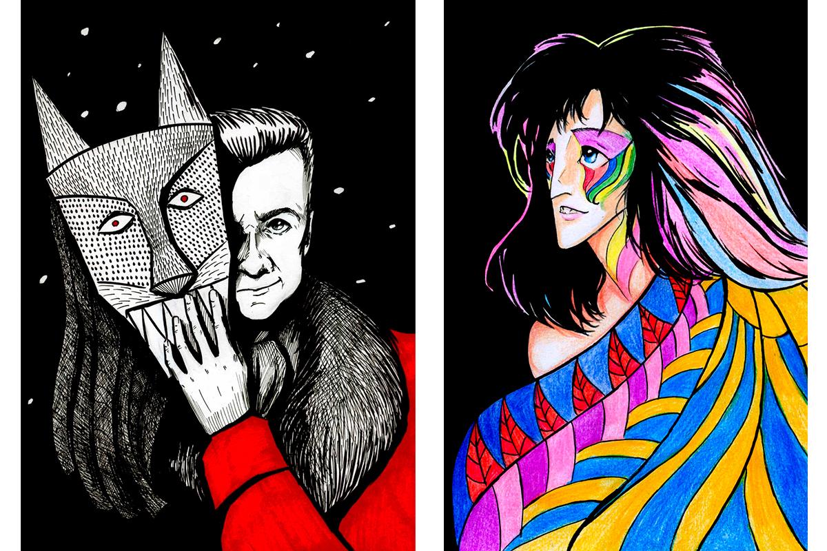Был период, когда я использовала темные фоны, просто чтобы подчеркнуть яркие цвета персонажей