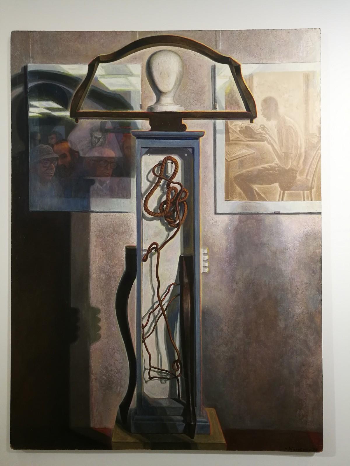 Жена художника, Зоя Николаевна, рассказала, что на одной из выставок посетитель даже нагибался и проверял, его эта тень или нет.