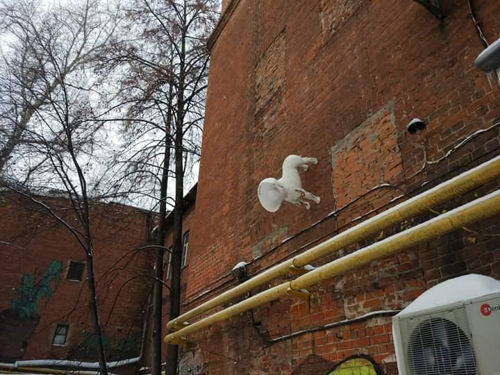 Арт-объект собачка в Нижнем Новгороде