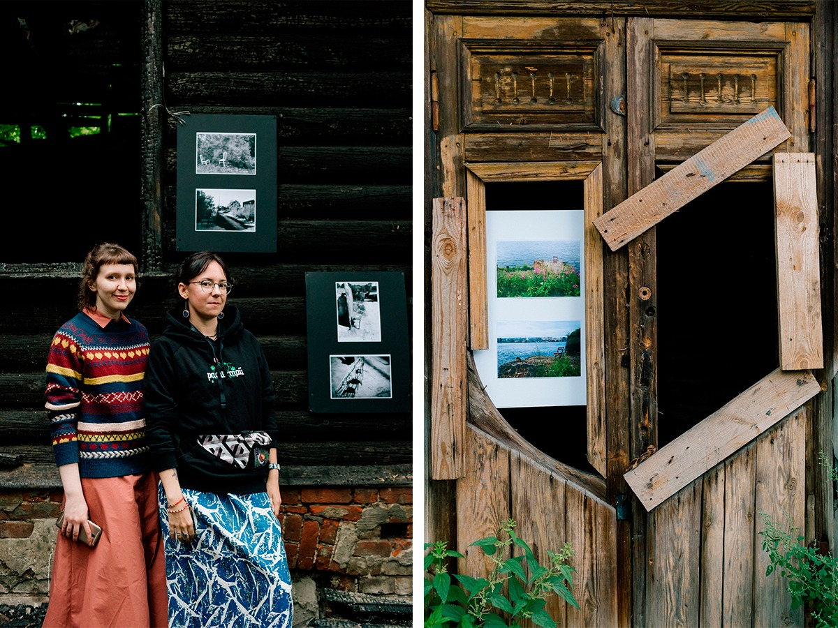 Кураторы выставки «Можно я здесь пересижу» Карина Лукьянова и Галя Рогова