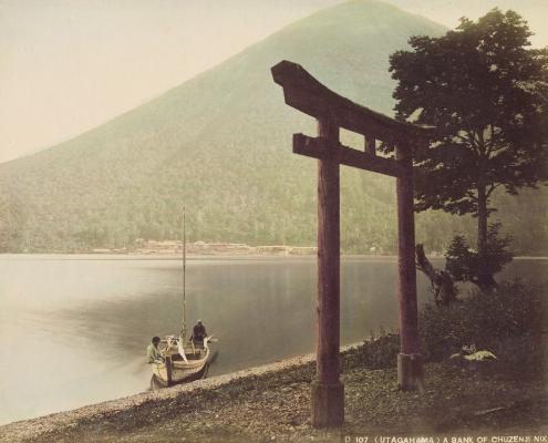 Козабуро Тамамура. Берег озера чузендзи. 1880-1890-е гг.