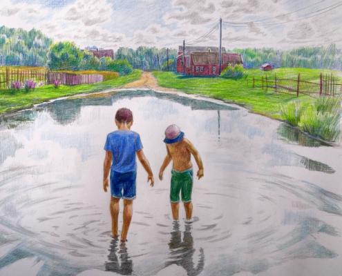 Выставка «Семья» нижегородских художников Татьяны Быковой, Павла Рыбакова и Полины Рыбаковой