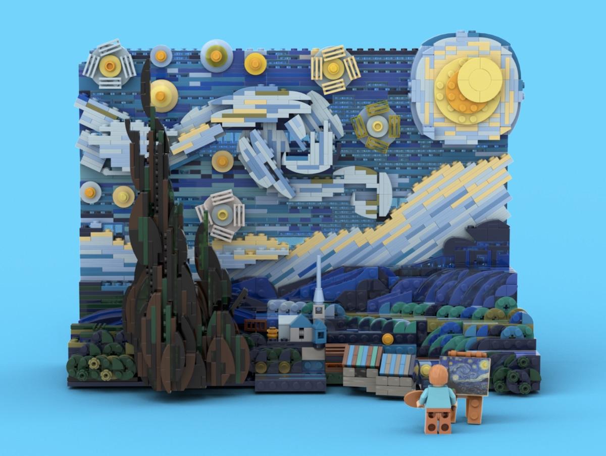 LEGO набор Винсента Ван Гога «Звёздная ночь»